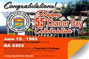 Happy 55th Charter Day Celebration
